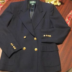 Ralph Lauren Double Breasted Navy Blazer